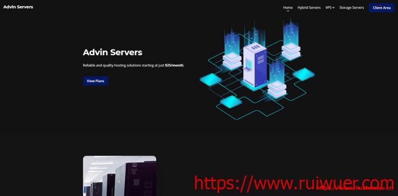 Advin Servers:$2.5/月/2核/4GB内存/80GB SSD空间/不限流量/1Gbps端口/KVM/达拉斯-瑞吾尔