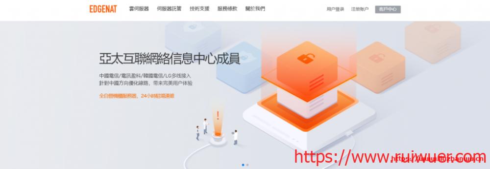 edgeNAT:新上韩国CN2线路原生IP主机月付80元起-瑞吾尔