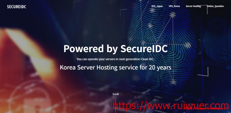 SecureIDC:$19/月/1GB内存/100GB SSD空间/500GB流量/1Gbps端口/KVM/日本软银/韩国-瑞吾尔