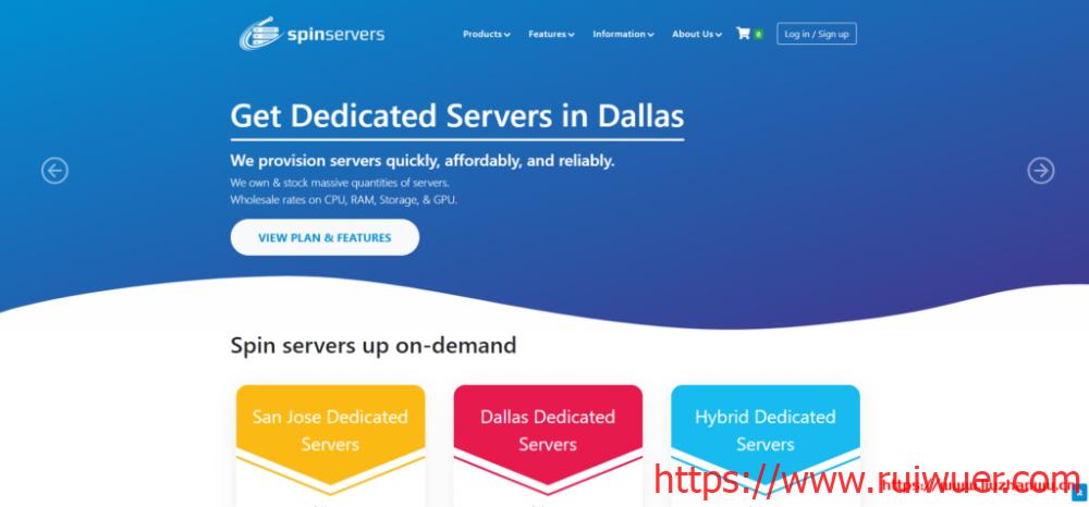 SpinServers:美国高配服务器4路e5-4640v2(40核/80线程)、768G内存、4*1.6TSSD、10Gbps带宽/$499/月-瑞吾尔