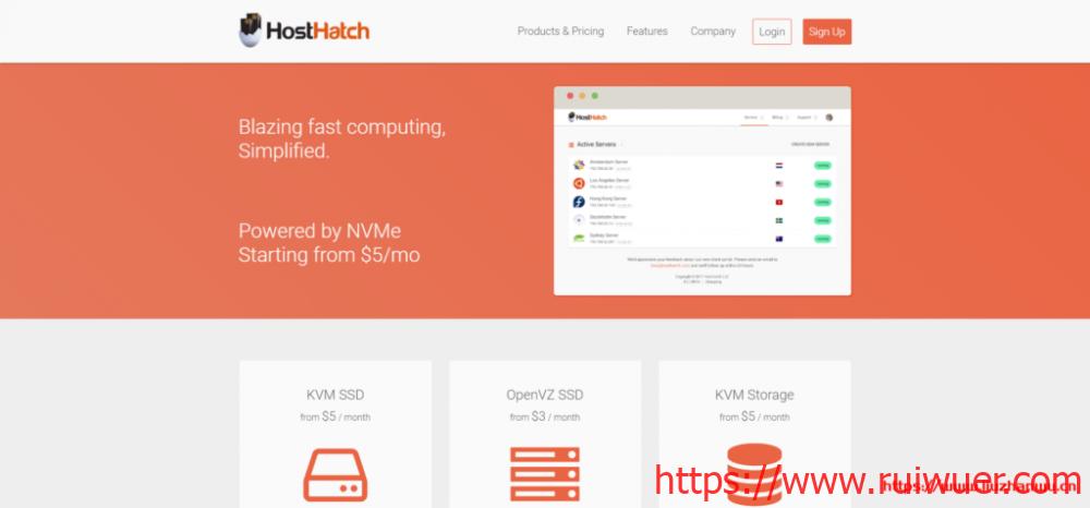 HostHatch:$20/年/1GB内存/10GB SSD空间/500GB流量/1Gbps端口/KVM/新加坡-瑞吾尔