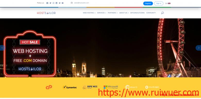#便宜#HostSailor:1核/256M/15G HDD/256G流量/1Gbps/1IP/荷兰&罗马尼亚/年付$6.6-瑞吾尔