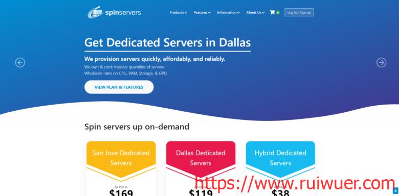 SpinServers:美国达拉斯四路E5高配置独立服务器$599/月(E5-4640 v2*4,768G大内存)-瑞吾尔