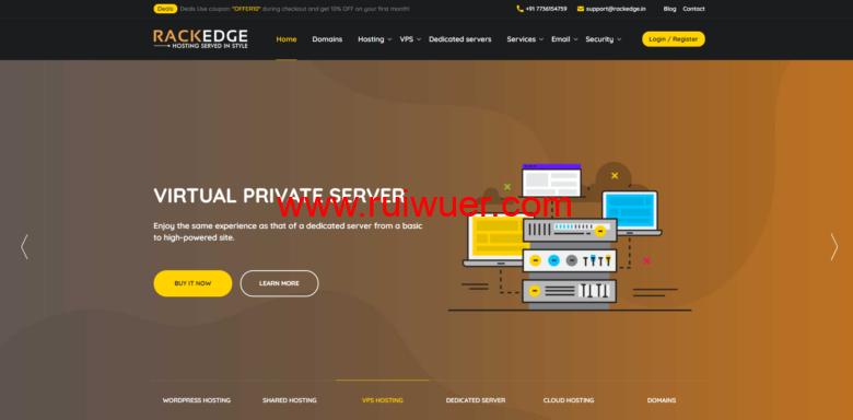 Rackedge:英国vps,1核2GB内存/30GB空间/不限流量/100Mbps端口,$2/月起,年付8折-瑞吾尔
