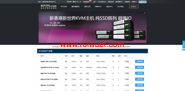80VPS:香港/日本服务器优惠180元仅420元/首月,E5/16G/1TB/20M带宽(含CN2)-瑞吾尔