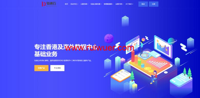 弘速科技:国庆优惠专场,香港沙田大带宽云服务器2H2G20M带宽1T流量仅需388元/年-瑞吾尔