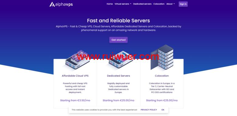 AlphaVPS:保加利亚大硬盘VPS,年付15欧元起(或€2/月),AMD EYPC+NVMe系列€3.99/月起-瑞吾尔