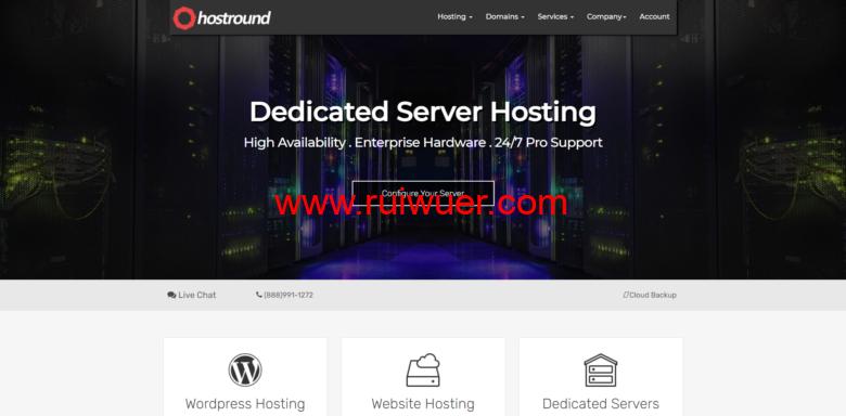 HostRound:美国CN2 GIA独立服务器100TB流量139.99美元/月,洛杉矶/纽约/达拉斯机房-瑞吾尔